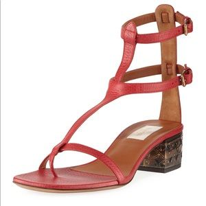 New in Box Valentino red leather sandals shoes